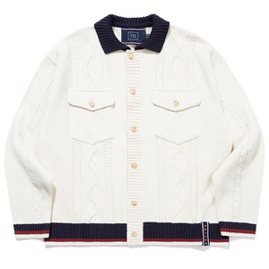 CABLE KNIT JACKET_OATMEAL