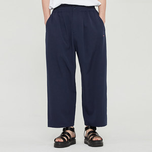 WIDE FIT ONE TUCK PANTS_NAVY