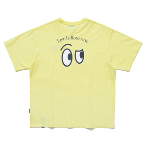 SEE SIDE FACE TEE_LIGHT YELLOW