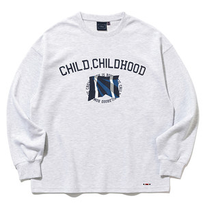 CHILDHOOD LONG SLEEVE_LIGHT GREY