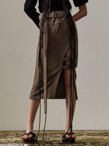 Buckle slit skirt - KK