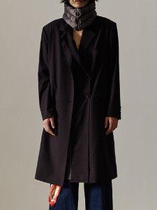 2layer front coat - BK