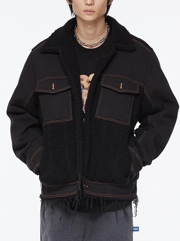 dumble mix denim jaket - BK