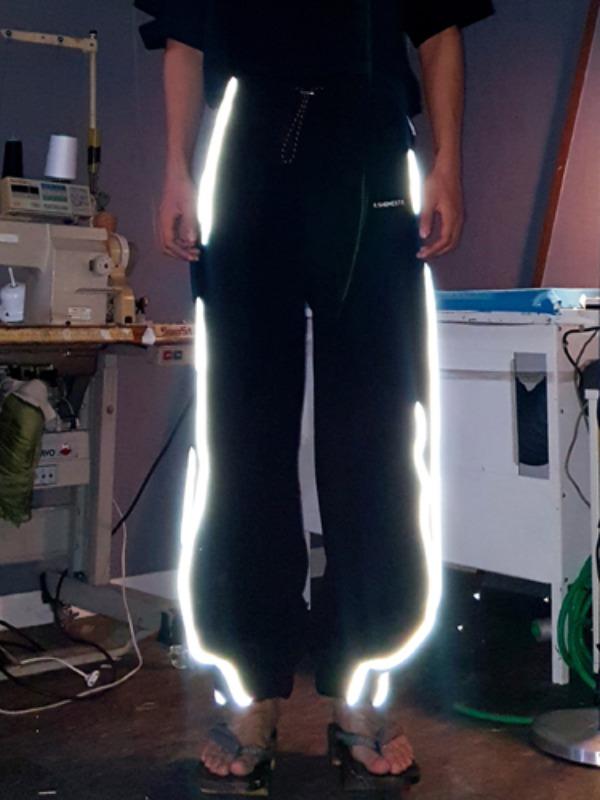 [50% SALE]cotton reflective pants - BK