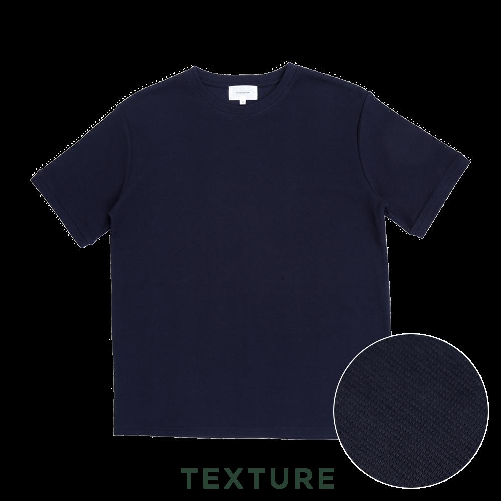수피마 100 니트 텍스쳐반팔 티셔츠네이비