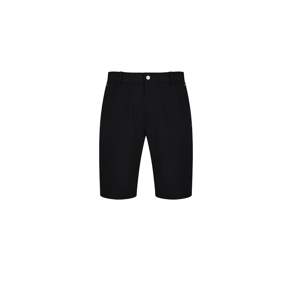 M B Pocket Perforated Half-Pants_BK