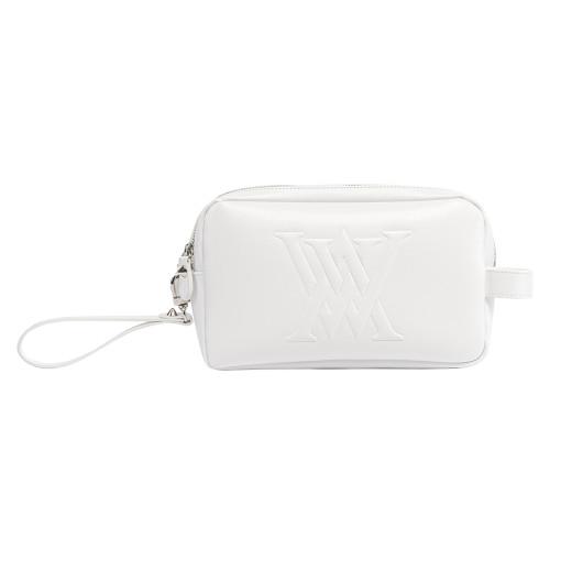 Anew Logo Patch White Pouch