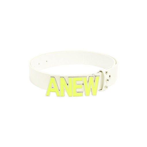 ANEW Text logo Belt_Lime