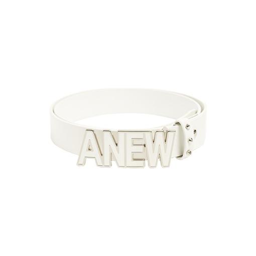 ANEW Text logo Belt_White