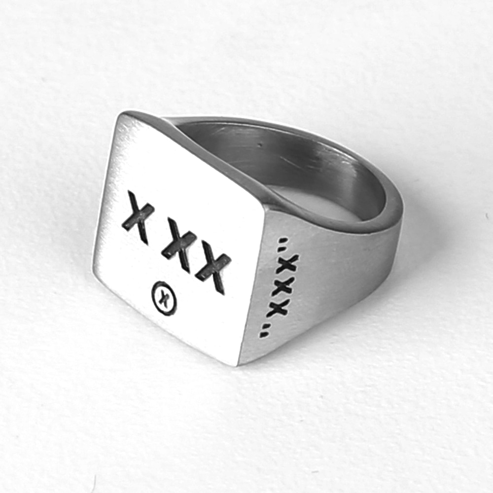 X XX LOGO RING (SURGICAL STEEL)