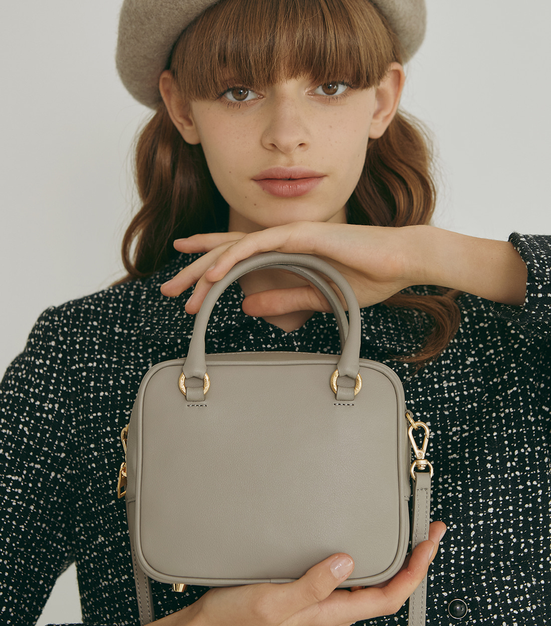 abbey bag small - taupe