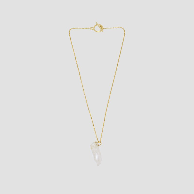 [Meantime : 민타임] Pure Crystal Surgical Steel Chain Necklace Gold