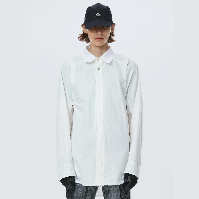 [HAMCUS : 햄커스] ANTARES CORPO Staff Mulit Panel Shirts White