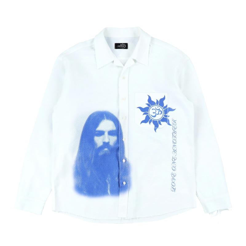 [AFB : 에이에프비] 'George Harrison & Ohm' porcelain artwork  Raw-Edge Shirt
