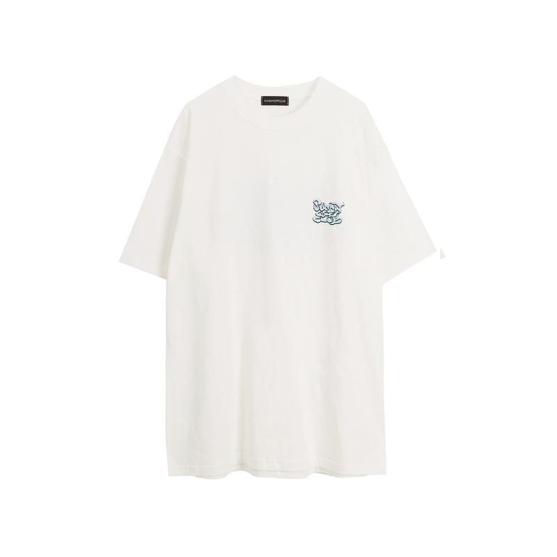 [SUNDAY OFF CLUB : 선데이오프클럽] Smoke Graffiti Logo T-shirt White