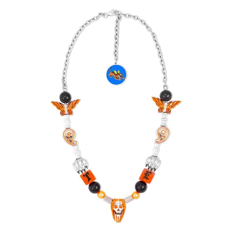 [TYGA X EVAE+ MOB : 타이가 X 이배몹] TYGA Collaboration Tiger & Skull & Paisley Charms Necklaces