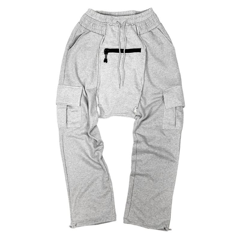 [SURGERY : 써저리] Remake saruel pants Grey