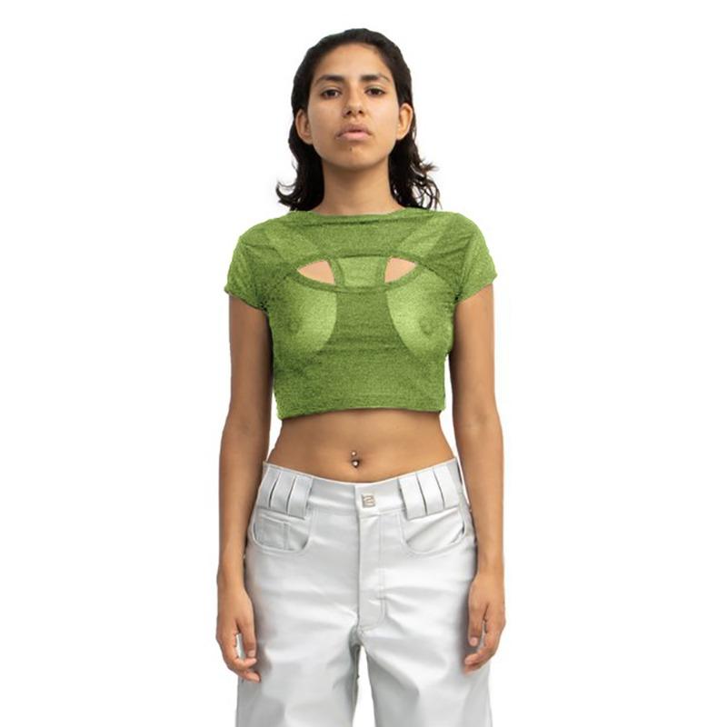 [BARRAGAN : 바라간] CARRERA Crop Top Metalic Green