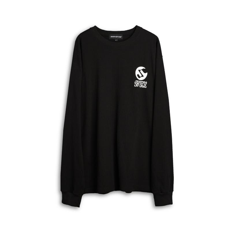 [SUNDAY OFF CLUB : 선데이오프클럽] OG Logo Artwork by 'Number 3' Long Sleeve T-Shirt Black