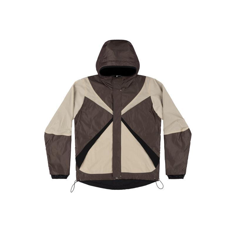 [ARNAR MAR JONSSON : 아르나 마르 존슨] Reversible texlon composition padded hood multi panels Jacket
