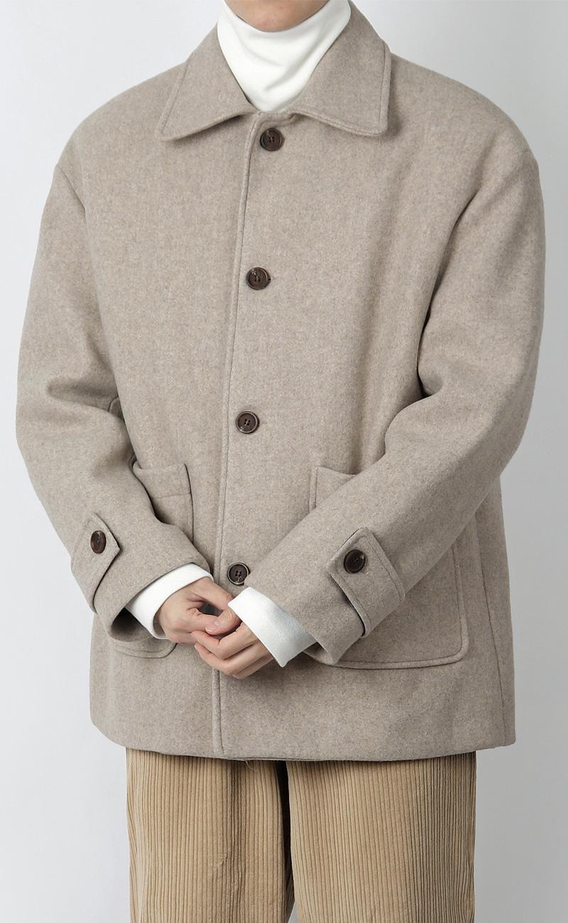 울 코트 자켓