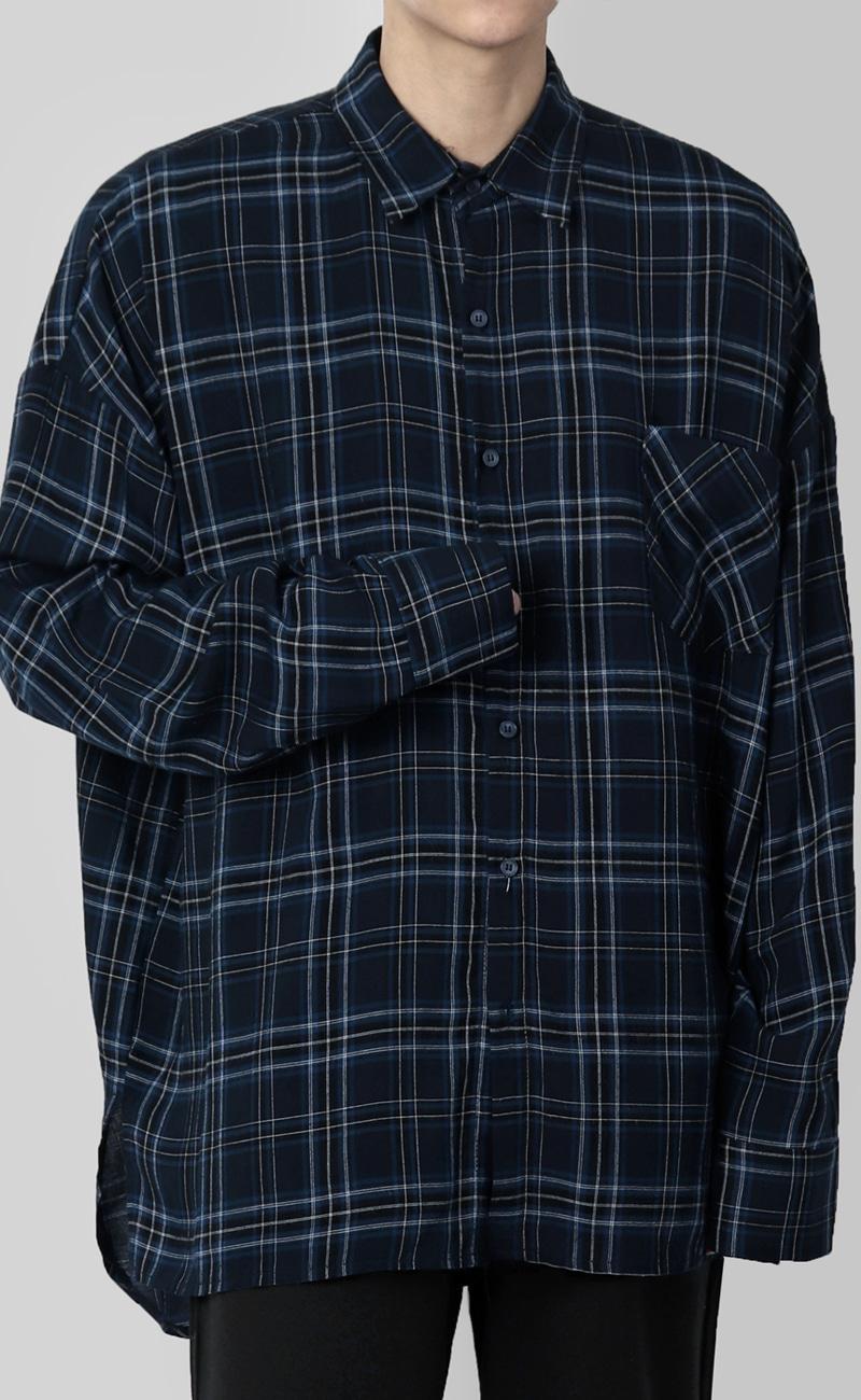 세인 체크 셔츠