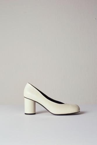 Luna Pumps Leather Ivory