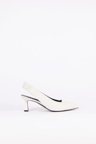 Nana Slingback Pumps Leather Ivoryblanc sur blanc blanc sur blanc 블랑수블랑 디자이너 슈즈