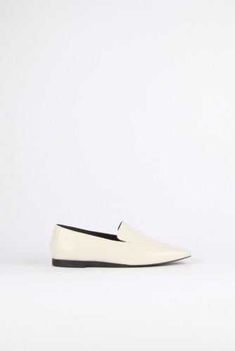 Devona Loafer Leather Ivoryblanc sur blanc blanc sur blanc 블랑수블랑 디자이너 슈즈