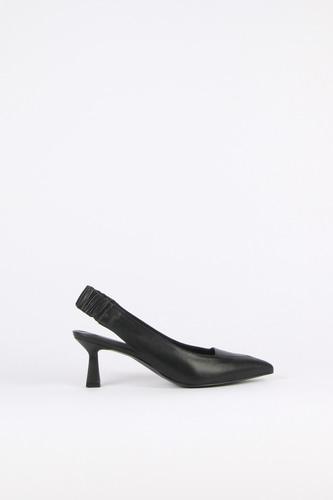 Nana Slingback Pumps Leather Blackblanc sur blanc blanc sur blanc 블랑수블랑 디자이너 슈즈