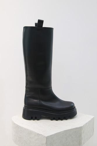 Karim Long Boots Blackblanc sur blanc blanc sur blanc 블랑수블랑 디자이너 슈즈