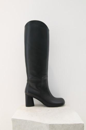 Luna Long Boots Blackblanc sur blanc blanc sur blanc 블랑수블랑 디자이너 슈즈