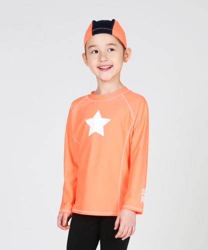 밸롭몰 밸롭 아동 래쉬가드 레인보우 오렌지+수모, ballop