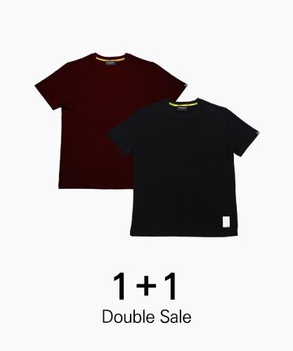 밸롭몰 밸롭 BSR 베이직 티셔츠 1+1, ballop