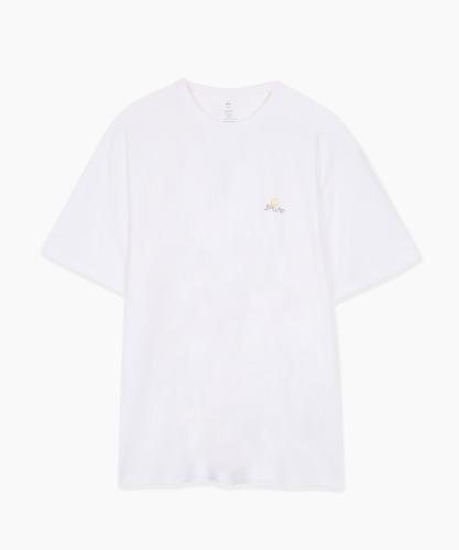 밸롭몰 밸롭 루즈핏 스마일 티셔츠 화이트, ballop