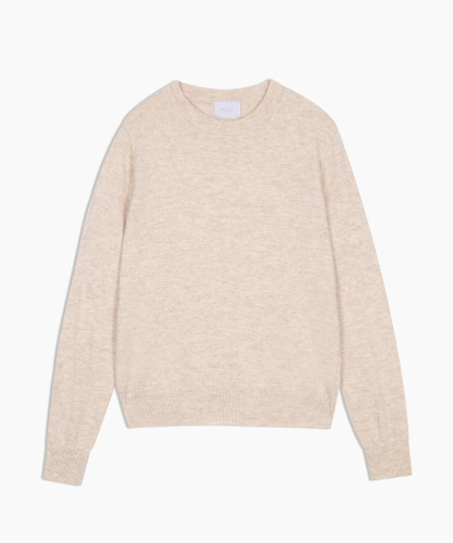Women's Cashmere-Blend Knit Top [Ivory]