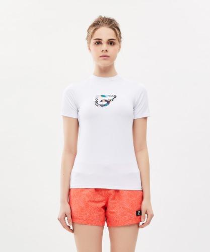 밸롭몰 밸롭 여성 쿨썸 티셔츠 화이트, ballop