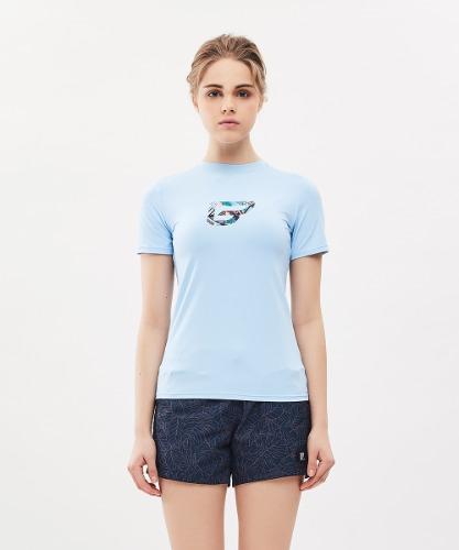밸롭몰 밸롭 여성 쿨썸 티셔츠 스카이블루, ballop