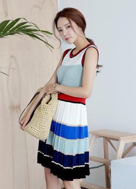 텔라 스트라이프 knit ops
