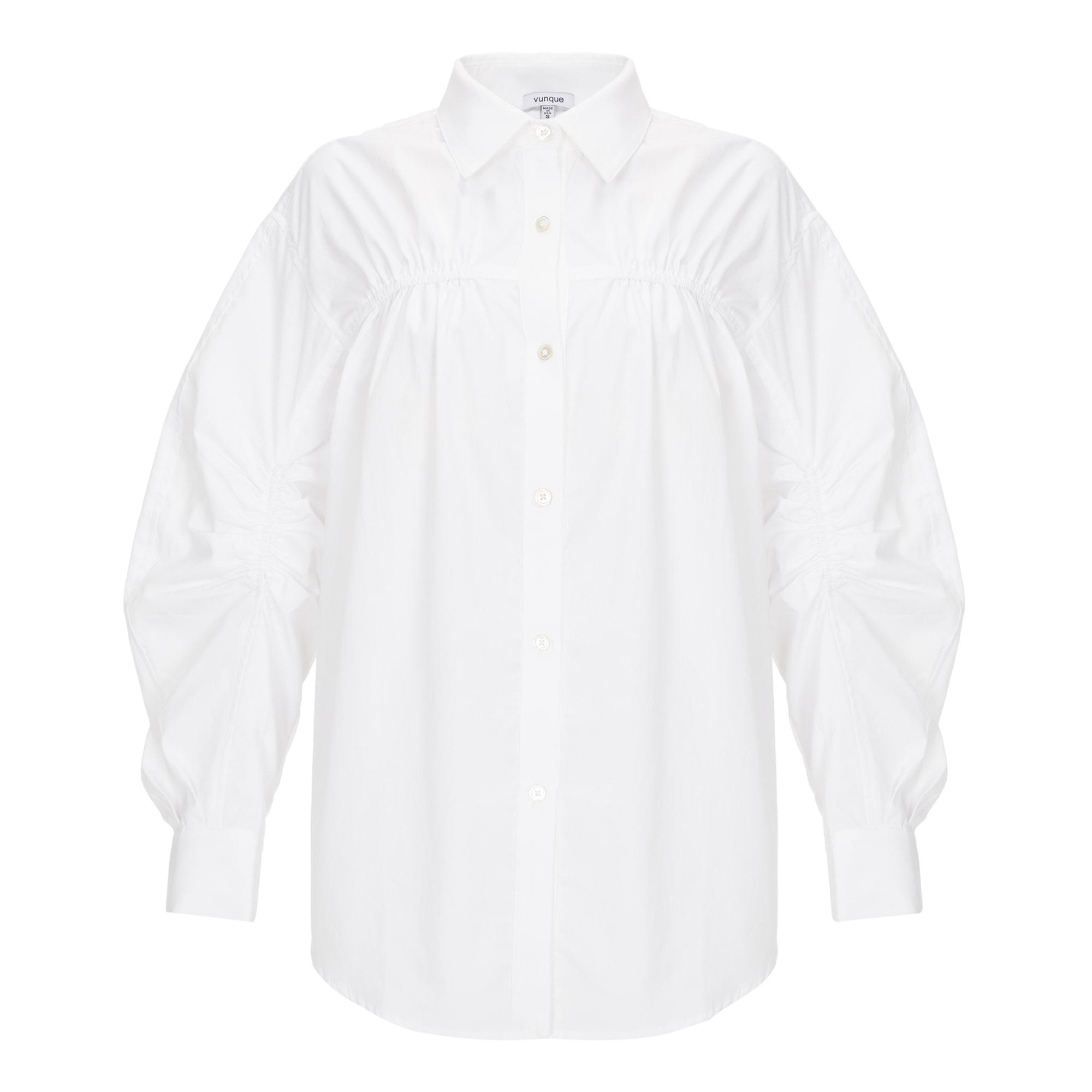 Bud Pleats Shirt (버드 플리츠 셔츠) White