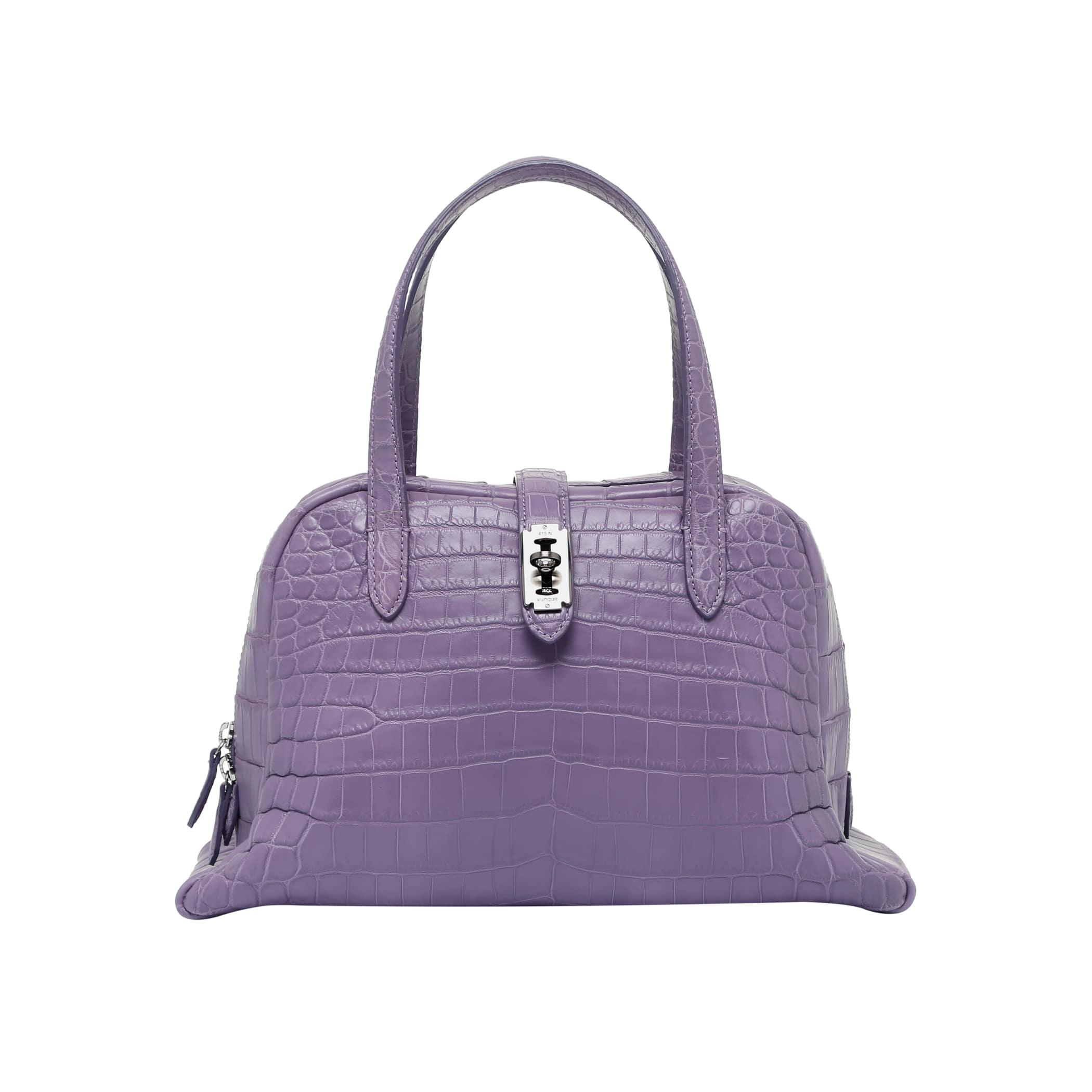 Toque tote M (토크 토트 미듐) Crocodile Purple