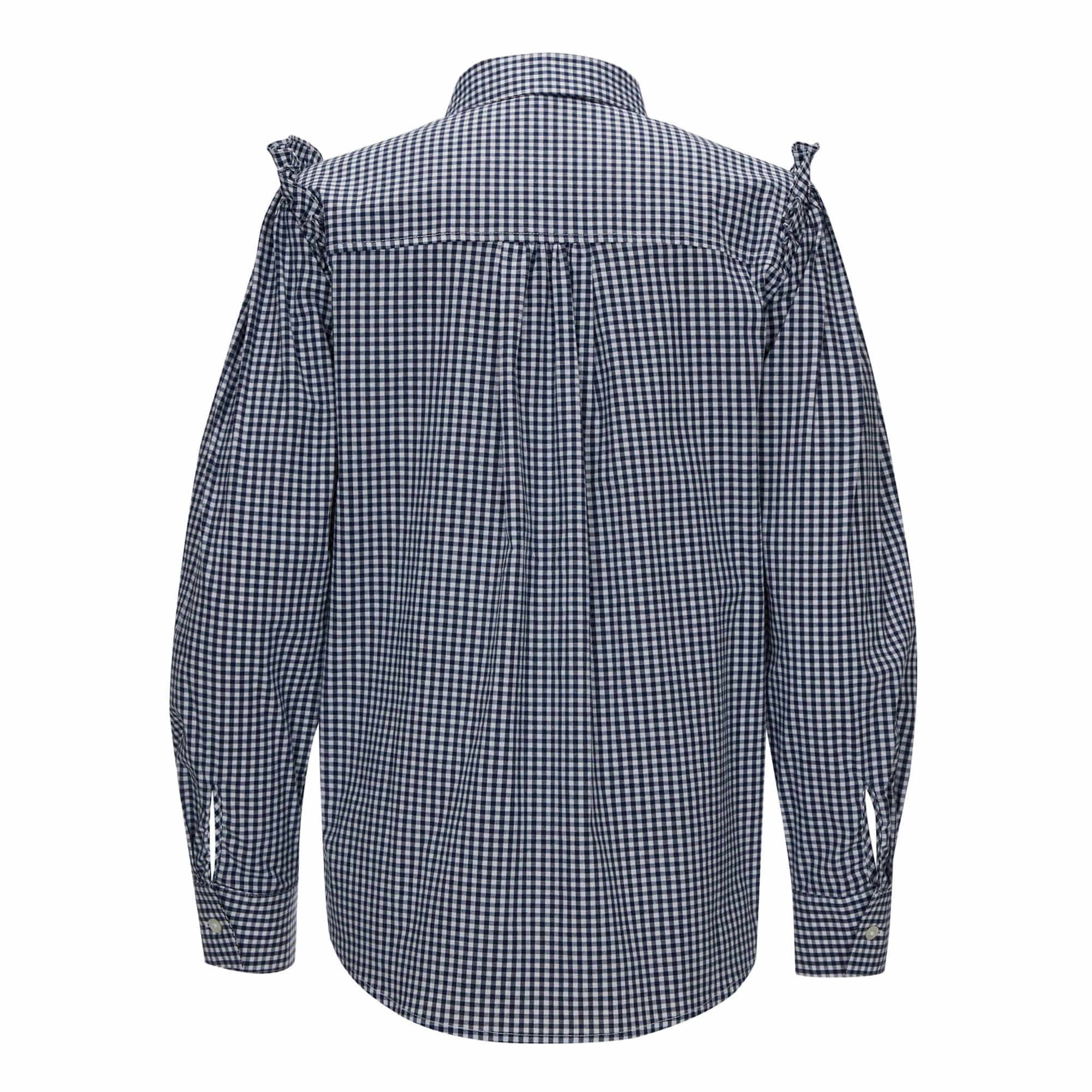 Humming Frill Shirt (허밍 프릴 셔츠) Navy