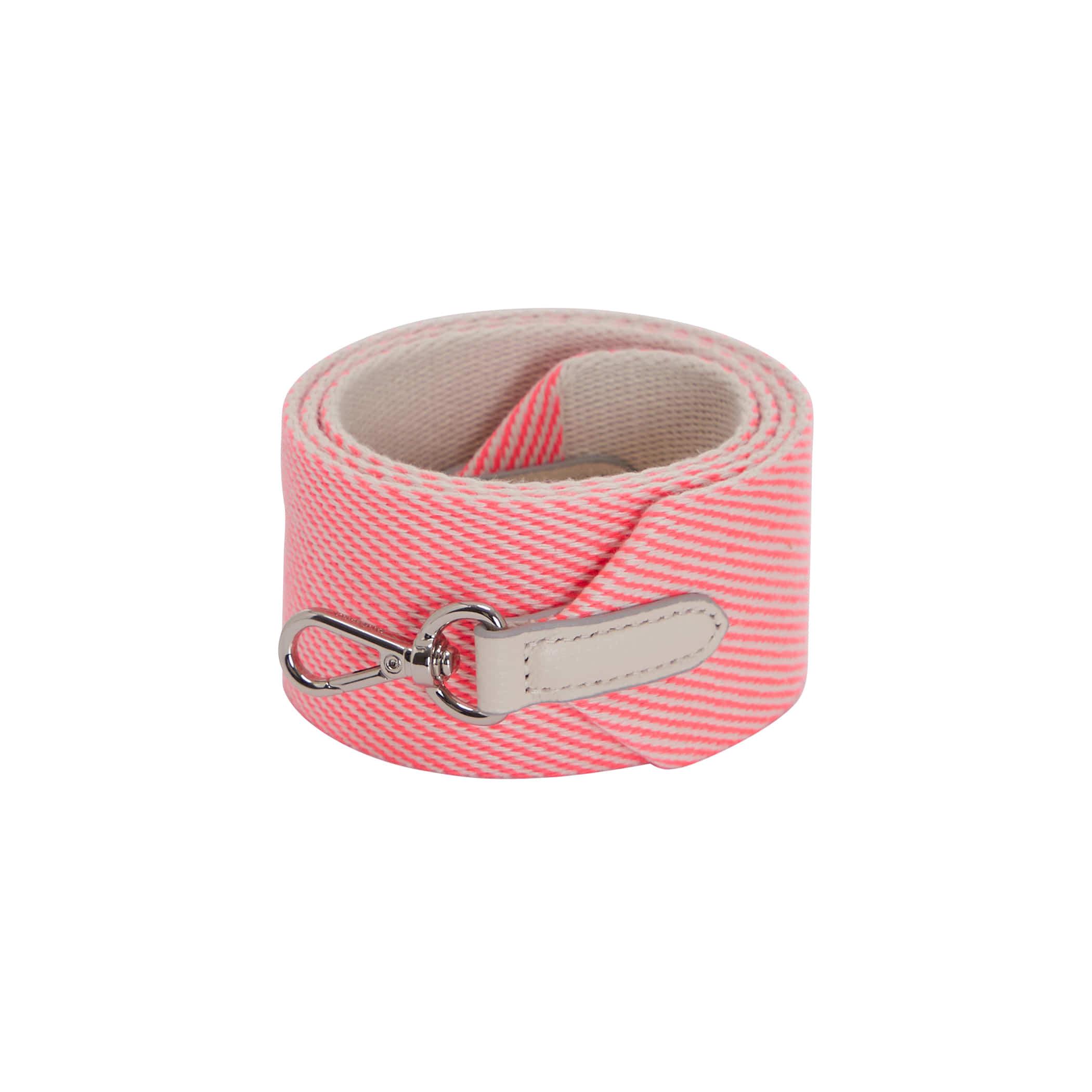 Shoulder Webbing Strap (50mm)Stripe _ Neon pink