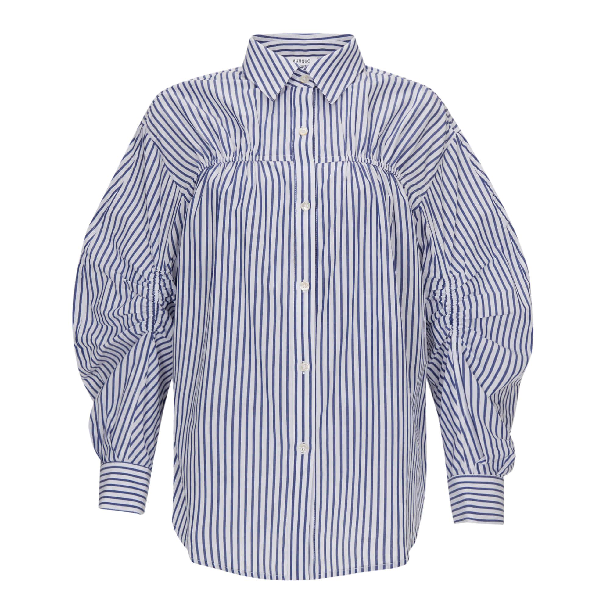 Bud Pleats Shirt (버드 플리츠 셔츠) Blue