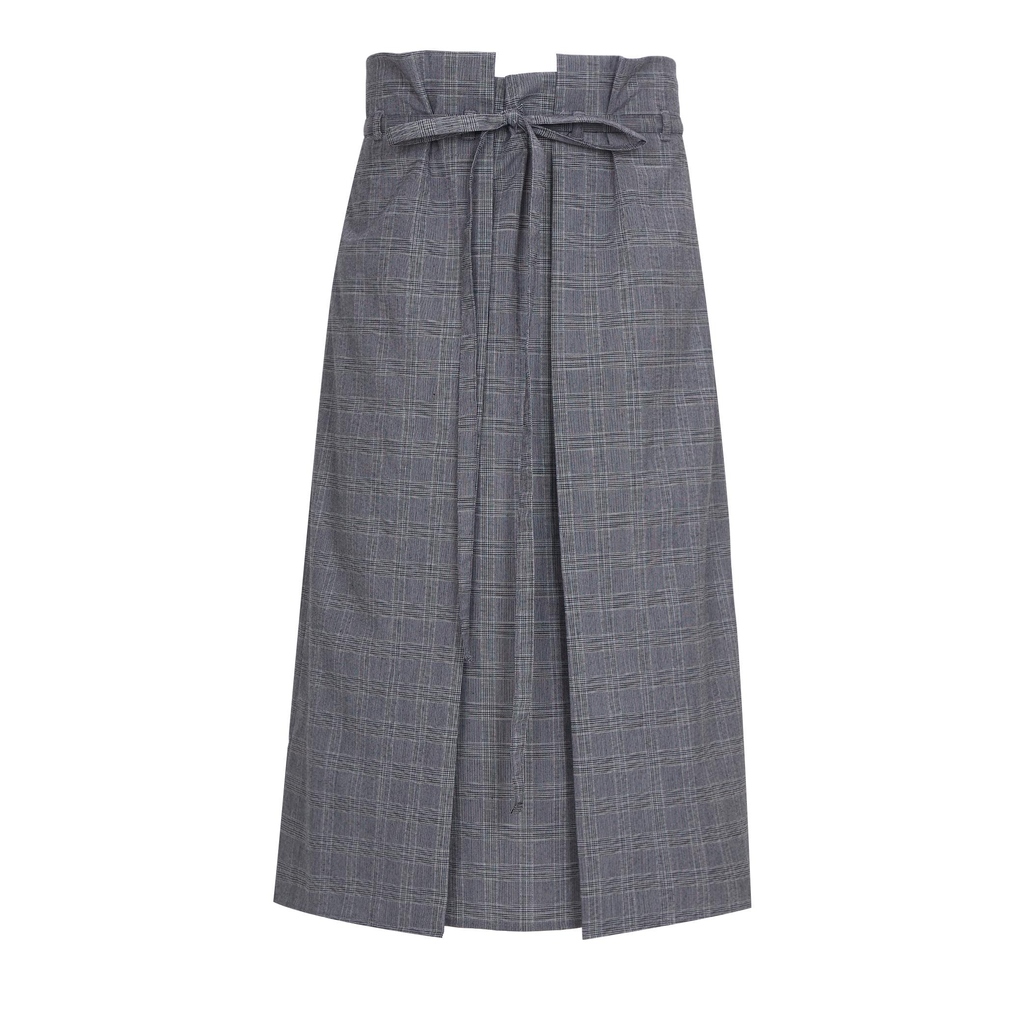 Bud Wrap Skirt (버드 랩 스커트) Check grey