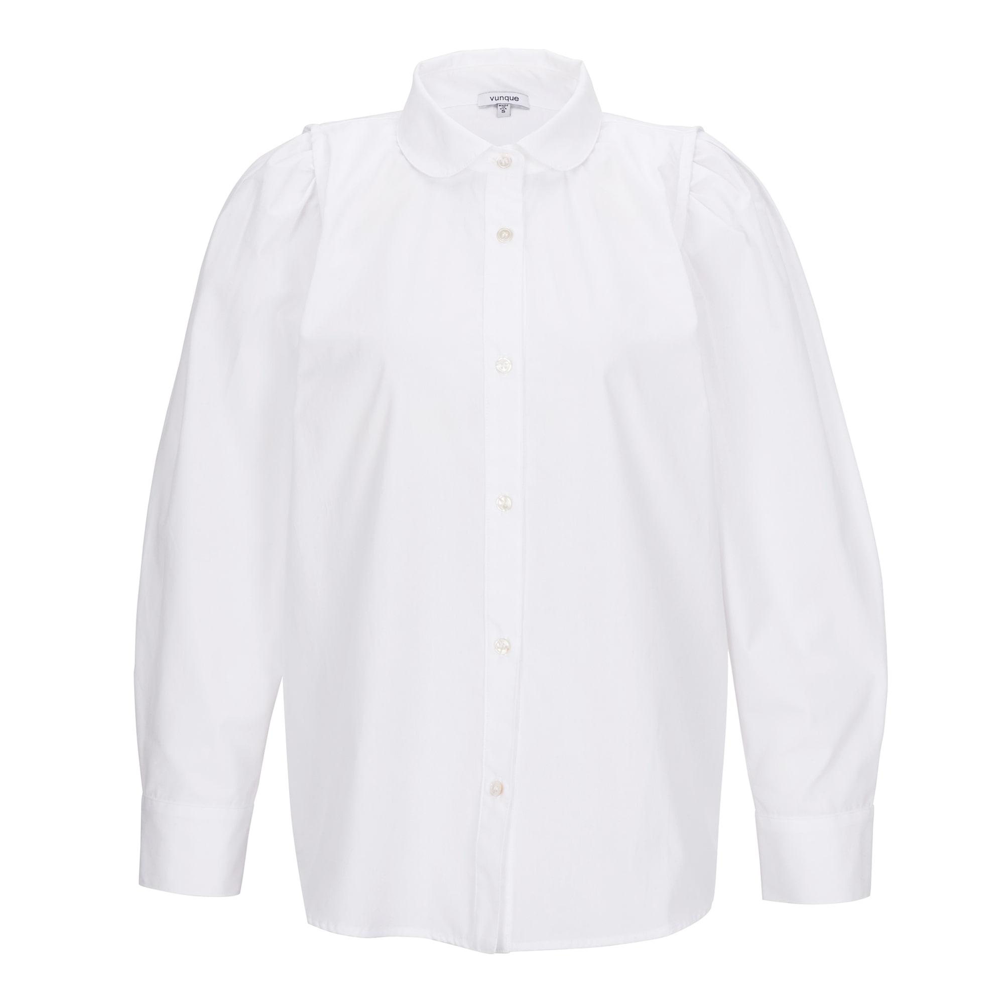 Humming double shoulder shirt (허밍 더블 숄더 셔츠) White