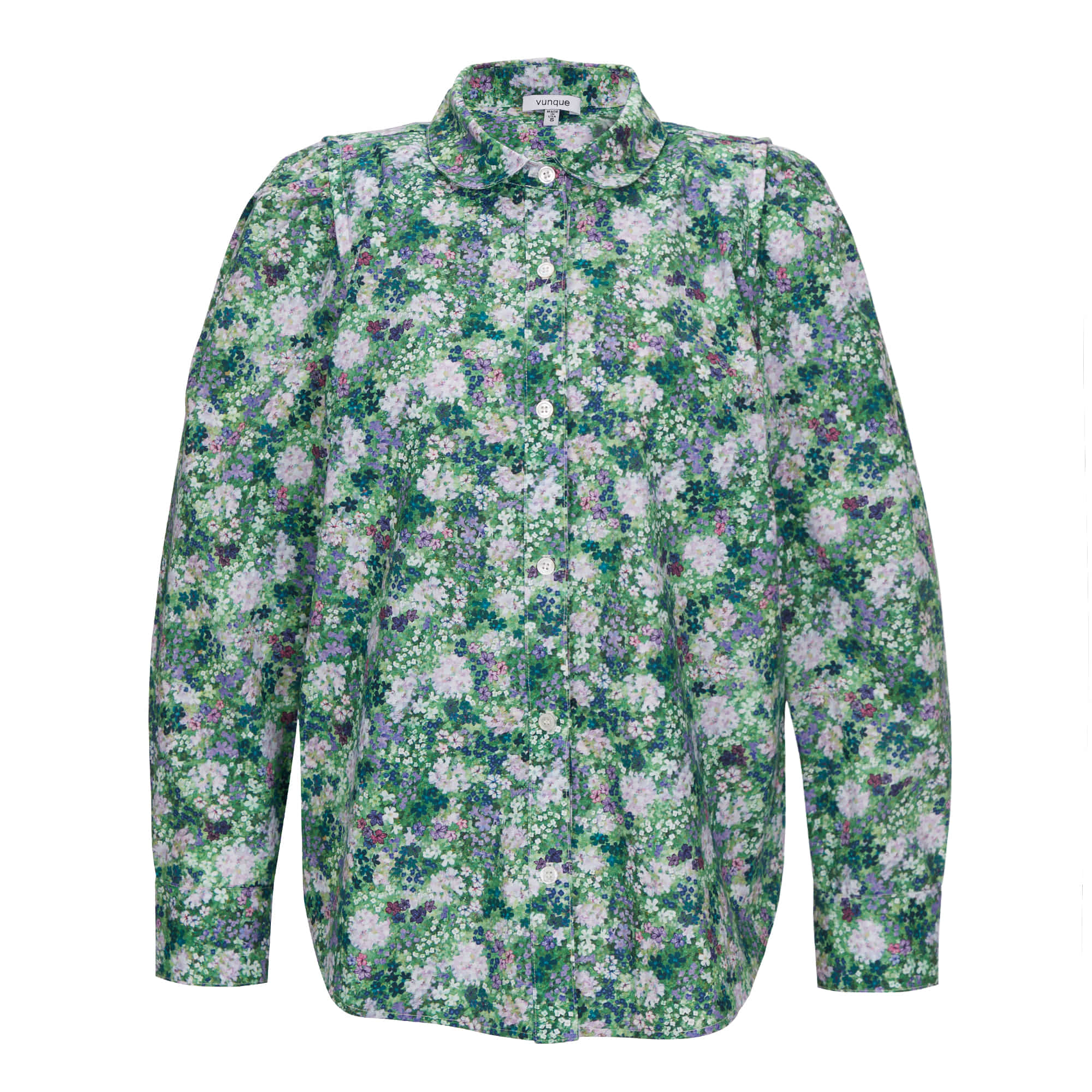 Humming double shoulder shirt (허밍 더블 숄더 셔츠) Floral