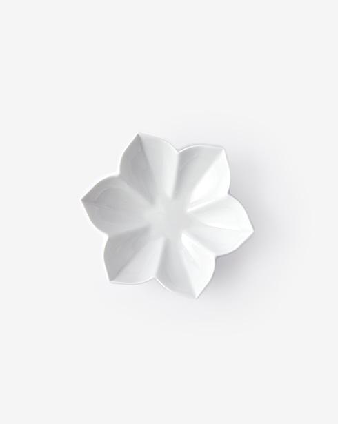 [무자기] 꽃 접시 06 (무광)