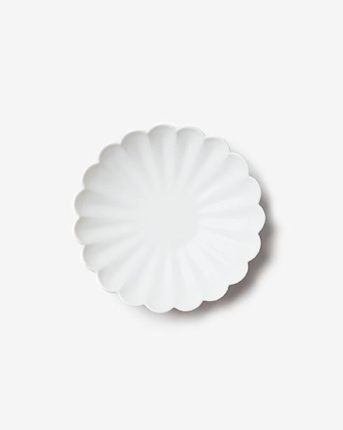 [무자기] 무광 꽃 접시 19