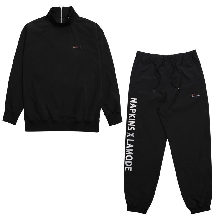 LamodeChiefNapkins x LAMO weekday nylon anorak set (Black)